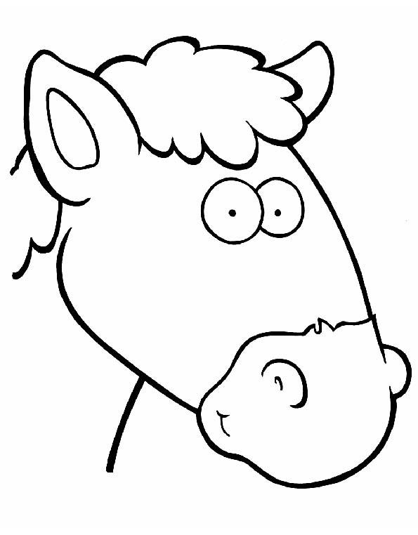 Cabeza de caballo para colorear. Teby y Tib - Portal Infantil