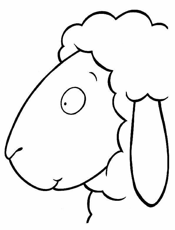 Cabeza de ovejita para colorear. Teby y Tib - Portal Infantil
