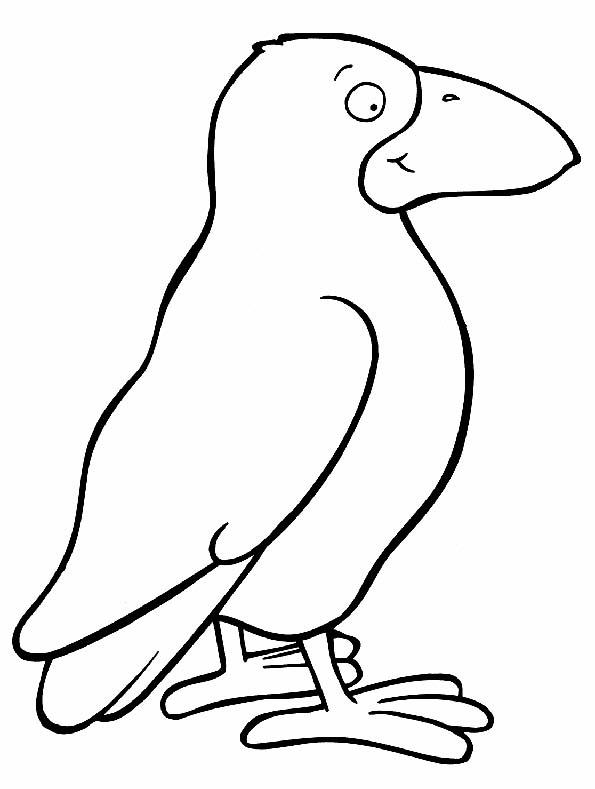 Colorea el cuervo de forma original. Teby y Tib - Portal Infantil