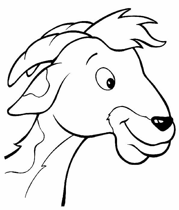 Cabeza de cabra para colorear. Teby y Tib - Portal Infantil