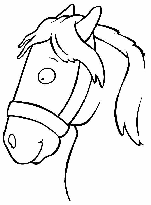 Cabeza de caballo sonriente para colorear. Teby y Tib - Portal ...
