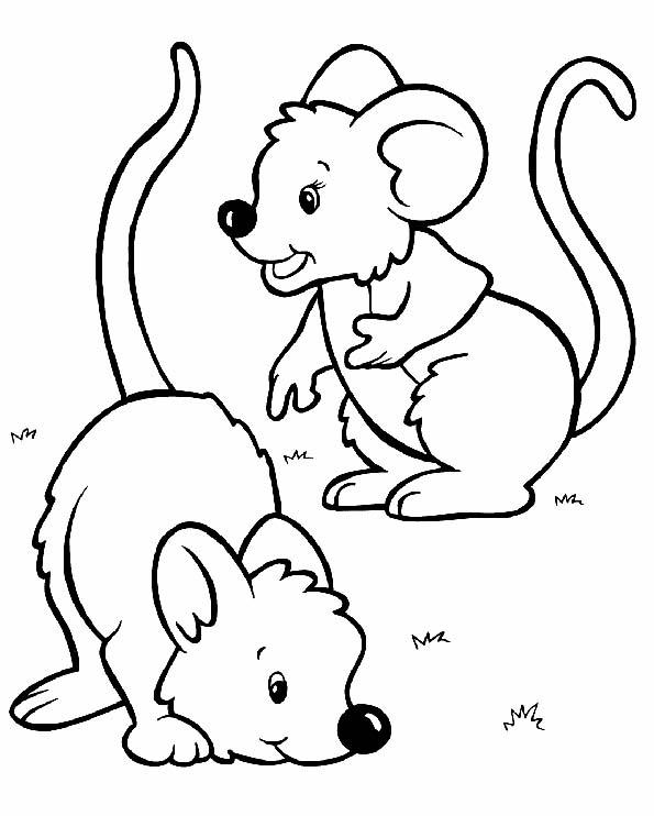 Ratoncitos para colorear. Teby y Tib - Portal Infantil