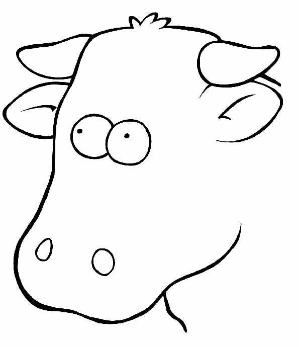 Cabeza de vaca para colorear. Teby y Tib - Portal Infantil