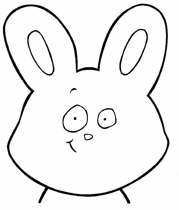 Cabeza de conejo para colorear. Teby y Tib - Portal Infantil