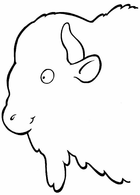 Cabeza de búfalo para colorear. Teby y Tib - Portal Infantil