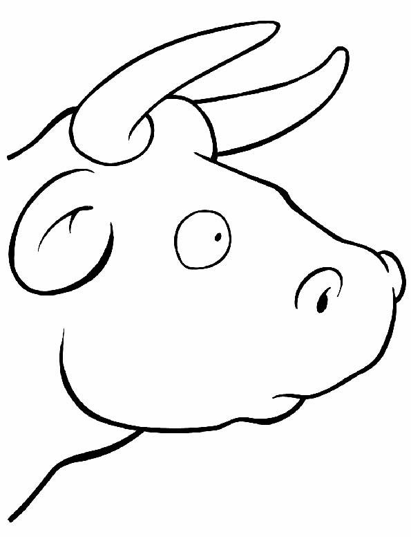 Cabeza de toro para colorear. Teby y Tib - Portal Infantil