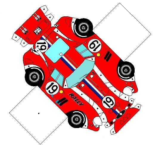 Recortable coche de rally. Teby y Tib - Portal Infantil