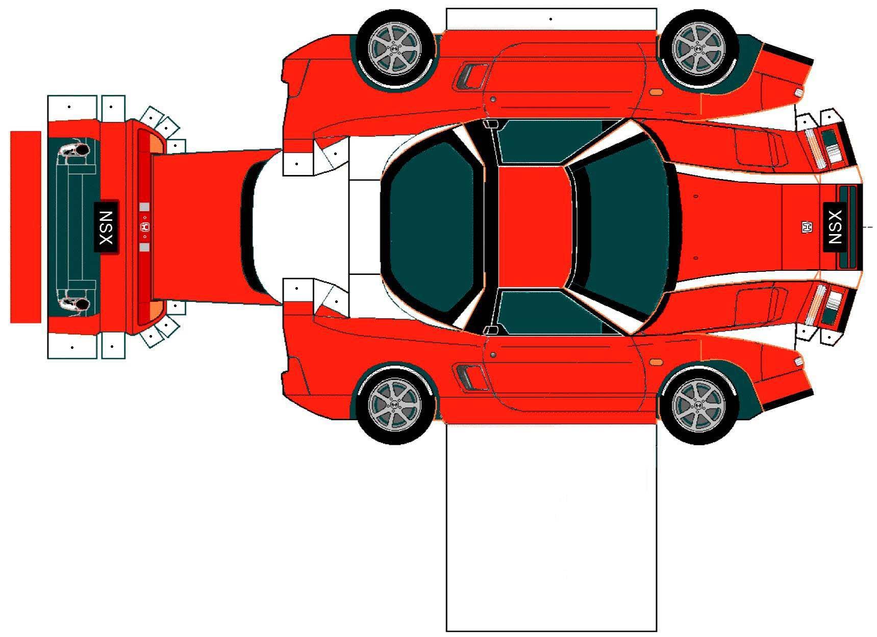 Recortable automóvil Honda NSX. Teby y Tib - Portal Infantil